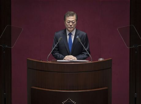 South Korea  039 s President Moon Jae-in delivers a budget speech to 4feee0b465d