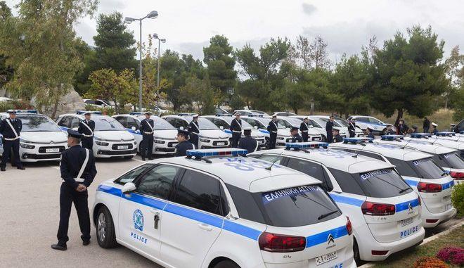 Η παρουσίαση των 49 νέων υπηρεσιακών οχημάτων της Ελληνικής Αστυνομίας