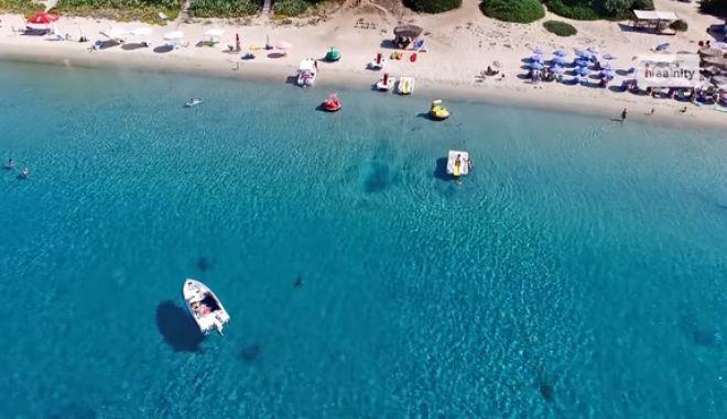 Το απόλυτο γαλάζιο! Αυτό το βίντεο από τη Χαλκιδική θα σας αφήσει άφωνους