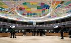 Eurogroup finance ministers meeting at the European Council in Brussels, Belgium on Feb. 20, 2017. /          20 , 2017