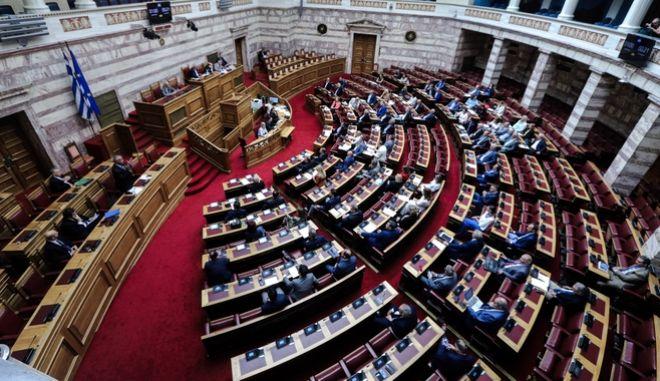 Άποψη από την Ολομέλεια της Βουλής.