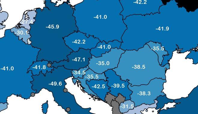 Πού, πότε και πόσο ήταν η χαμηλότερη θερμοκρασία που έδειξε το θερμόμετρο στην Ελλάδα