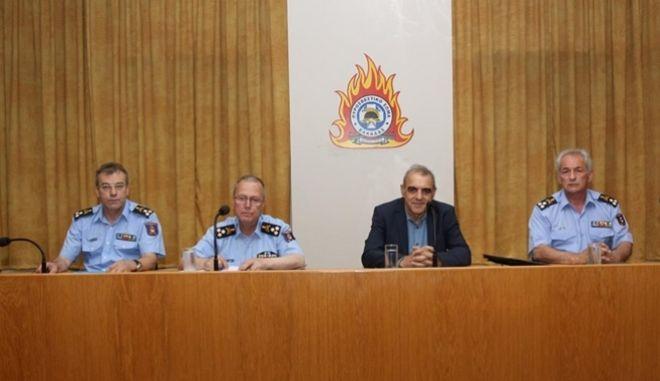 Σύσκεψη για την αντιπυρική περίοδο στο Κέντρο Επιχειρήσεων της Πυροσβεστικής