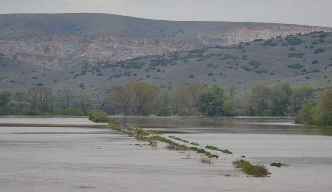 Πλημμυρισμένες εκτάσεις. Φωτό αρχείου.