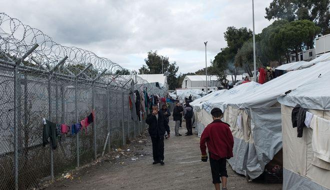 Το κέντρο μεταναστών στη Μόρια της Λέσβου