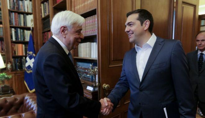 Συνάντηση του πρωθυπουργού Αλέξη Τσίπρα, με τον Πρόεδρο της Δημοκρατίας Προκόπη Παυλόπουλο