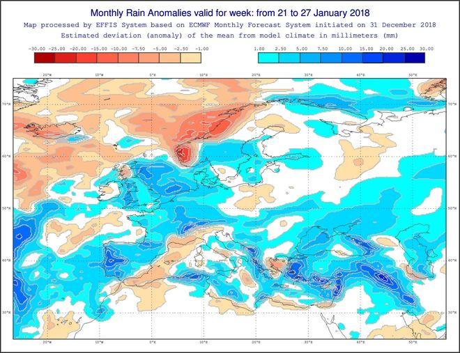 Καιρός: Τα επόμενα κύματα κακοκαιρίας μέσα στον Ιανουάριο