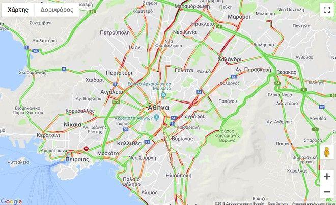 Κίνηση στους δρόμους: Που υπάρχει αυξημένη κυκλοφορία