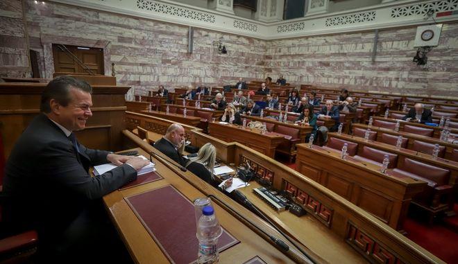 Στιγμιότυπο από τη συνεδρίαση της επιτροπής