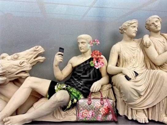 9391bd3e5d Έντυσαν με Gucci τα Γλυπτά του Παρθενώνα! - Πολιτισμός