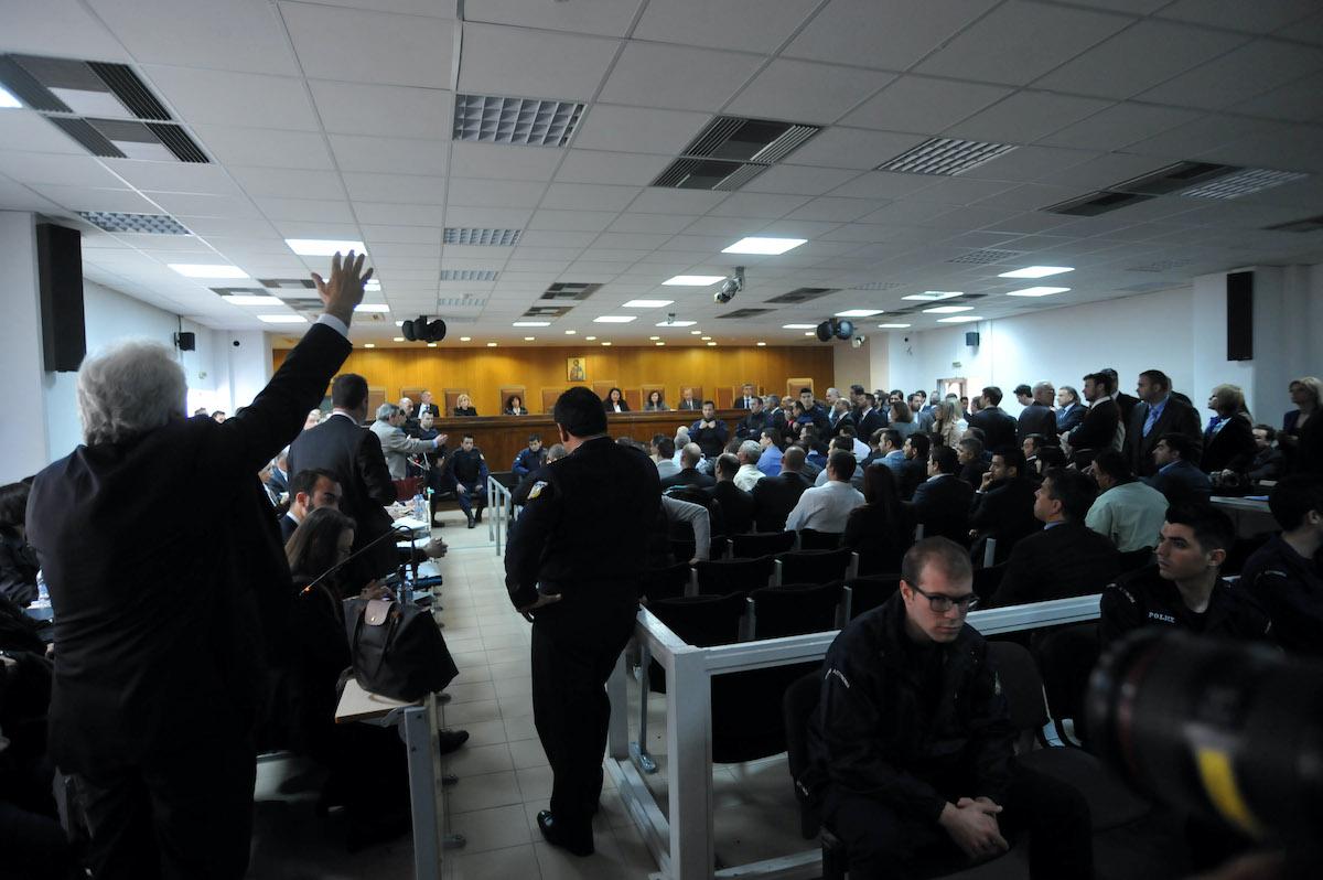 Στιγμιότυπο από την αίθουσα του Τριμελούς Εφετείου Κακουργημάτων, όπου διεξάγεται η δίκη της