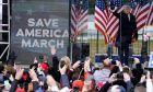 Ο Πρόεδρος Ντόναλντ Τραμπ σε συλλαλητήριο, 6 Ιανουαρίου 2021, στην Ουάσινγκτον.