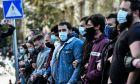 Στιγμιότυπο απο το πανεκπαιδευτικό συλλαλητήριο της Πέμπτης