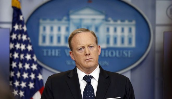 White House press secretary Sean Spicer listens to a reporter's question during a briefing at the White House, Tuesday, June 20, 2017 in Washington. (AP Photo/Alex Brandon)