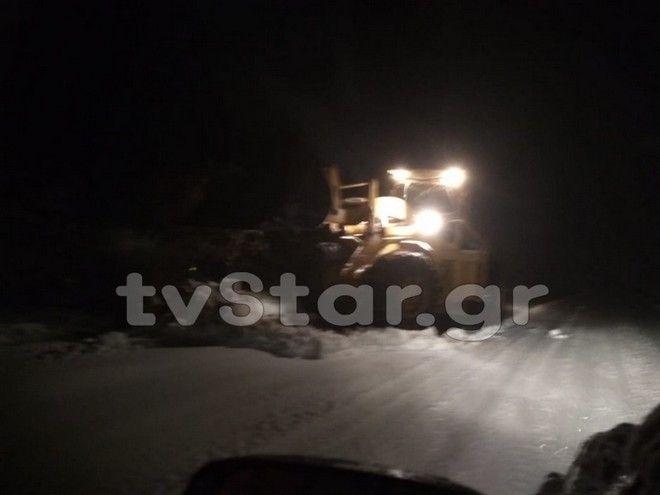 Ισχυρές χιονοπτώσεις στην Εύβοια