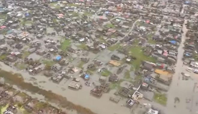 Εικόνα από τη Μοζαμβίκη μετά το πέρασμα του κυκλώνα Ιντάι