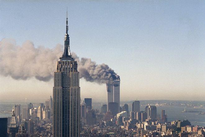 Εικόνα των Δίδυμων Πύργων την 11η Σεπτεμβρίου