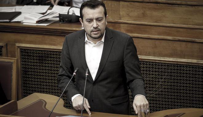 """Συζήτηση και ψήφιση επί της αρχής, των άρθρων και του συνόλου του σχεδίου νόμου: """"Αδειοδότηση διαστημικών δραστηριοτήτων - Καταχώριση στο Εθνικό Μητρώο Διαστημικών Αντικειμένων - Ίδρυση Ελληνικού Διαστημικού Οργανισμού και λοιπές διατάξεις"""", την Τετάρτη 20 Δεκεμβρίου 2017. (EUROKINISSI/ΓΙΑΝΝΗΣ ΠΑΝΑΓΟΠΟΥΛΟΣ)"""