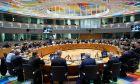 Στιγμιότυπο από συνεδρίαση του Ecofin, στις Βρυξέλλες.