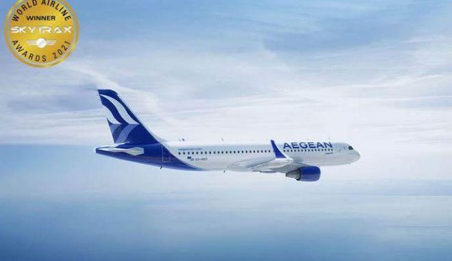 Πολλές και σημαντικές διακρίσεις για την AEGEAN στα βραβεία επιβατών Skytrax World Airline Awards 2021