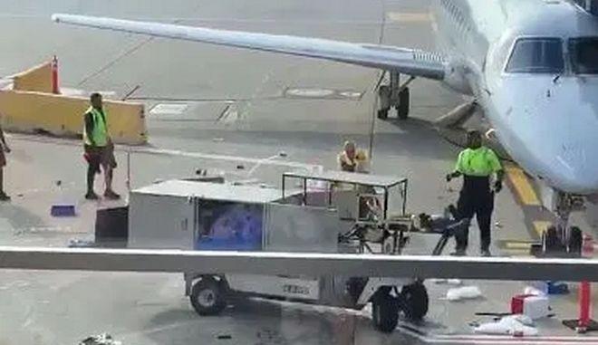 Το εκτός ελέγχου όχημα στο αεροδρόμιο του Σικάγο
