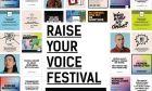 Η αφίσα του φεστιβάλ Raise Your Voice