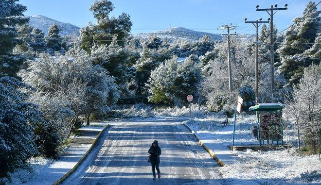 Χιόνια στον Διόνυσο