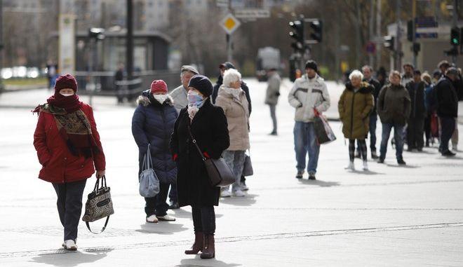 Άνθρωποι στο κέντρο του Βερολίνου