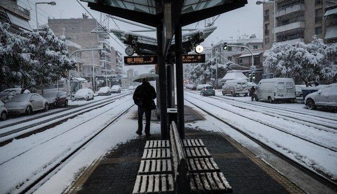 Στιγμιότυπο από τραμ την Τρίτη 16 Φεβρουαρίου 2021