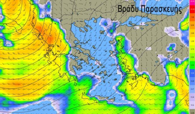 Καιρός: Νέα επιδείνωση από το βράδυ - Έντονες καταιγίδες, άνεμοι έως 9 μποφόρ