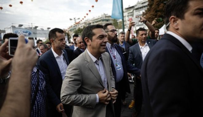 Meeting of TIF-HELEXPO Administration with the Prime Minister, Alexis Tsipras, during his presence at the inauguration of the 82nd Thessaloniki International Traid Fair (TIF), in Thessaloniki, Greece on September 9 2017. /     -HELEXPO   ,  ,        82 , , 9  2017.