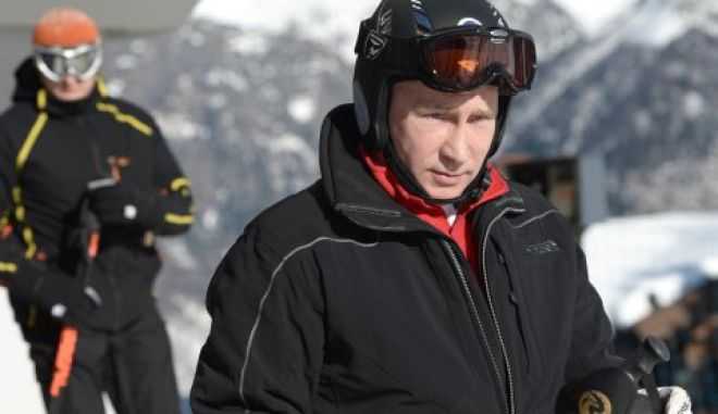 """Russian President Vladimir Putin visits the """"Laura"""" cross country ski and biathlon centre in the resort of Krasnaya Polyana near Sochi January 3, 2014.  REUTERS/Alexei Nikolskiy/RIA Novosti/Kremlin (RUSSIA - Tags: POLITICS SPORT OLYMPICS)  ATTENTION EDITORS - THIS IMAGE HAS BEEN SUPPLIED BY A THIRD PARTY. IT IS DISTRIBUTED, EXACTLY AS RECEIVED BY REUTERS, AS A SERVICE TO CLIENTS"""