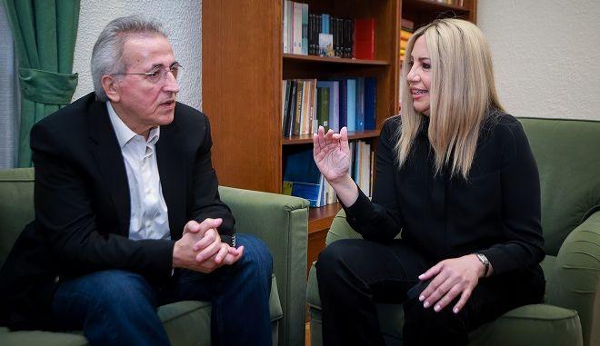 Συνάντηση της προέδρου του Κινήματος Αλλαγής Φώφης Γεννηματά, με τον πρόεδρο της ΓΣΕΕ Γιάννη Παναγόπουλος.