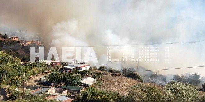 Σε πύρινο κλοιό η Ηλεία: Οι φλόγες πλησιάζουν ξανά τη μαρτυρική Μάκιστο