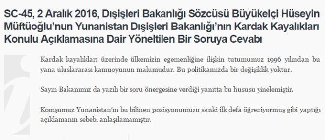 Το τουρκικό ΥΠΕΞ προκαλεί ξανά για τα Ίμια