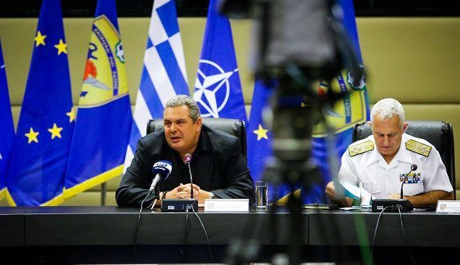 Συνέντευξη Τύπου του υπουργού Άμυνας Πάνου Καμμένου