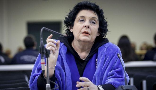 """Κατάθεση της Λιάνας Κανέλλη στην δίκη της """"Χρυσης Αυγήσ"""" στην αίθουσα των γυναικείων φυλακών Κορυδαλλού την Πέμπτη 11 Ιανουαρίου 2018. (EUROKINISSI/ΓΙΑΝΝΗΣ ΠΑΝΑΓΟΠΟΥΛΟΣ)"""