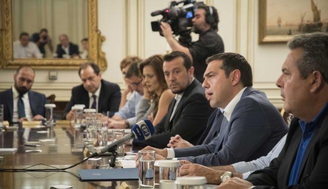 Ο πρωθυπουργός Αλέξης Τσίπρας κατά προηγούμενη συνεδρίαση του υπουργικού συμβουλίου