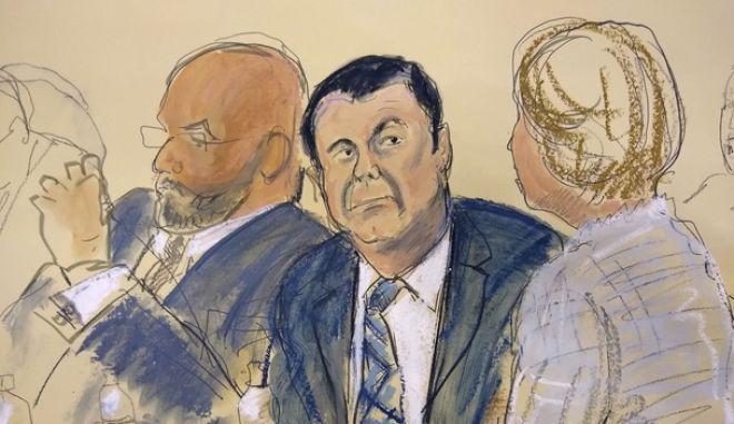 Σκίτσο από τη δίκη