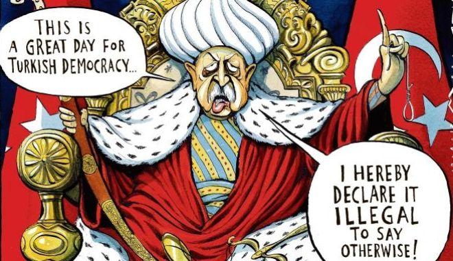 Ο σουλτάνος Ερντογάν απολαμβάνει μια 'μεγάλη μέρα για τη Δημοκρατία'