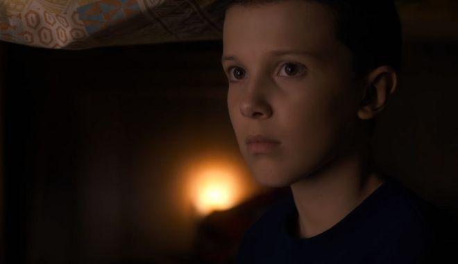 """Η """"Eleven"""" από τη σειρά του Netflix, Stranger Things"""