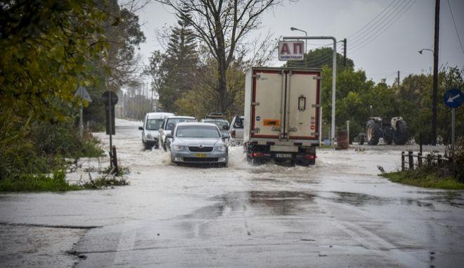 Πλημμύρες στην Αιτωλοακαρνανία το Σάββατο 2 Δεκεμβρίου 2017. (EUROKINISSI)
