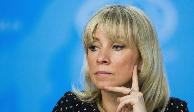 Η εκπρόσωπος του ρωσικού υπουργείου Εξωτερικών Μαρία Ζαχάροβα