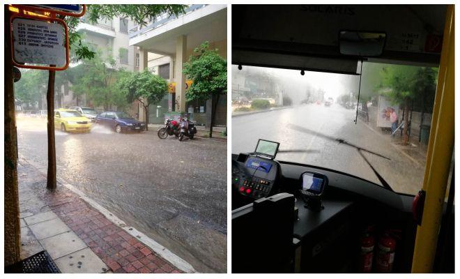 Έντονη βροχόπτωση το απόγευμα της Κυριακής στην Αθήνα, Λεωφόρος Αλεξάνδρας