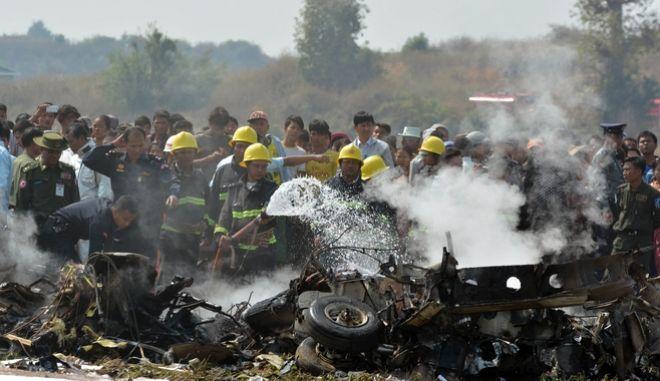 Μιανμάρ: Συντριβή στρατιωτικού αεροσκάφους με 120 επιβαίνοντες