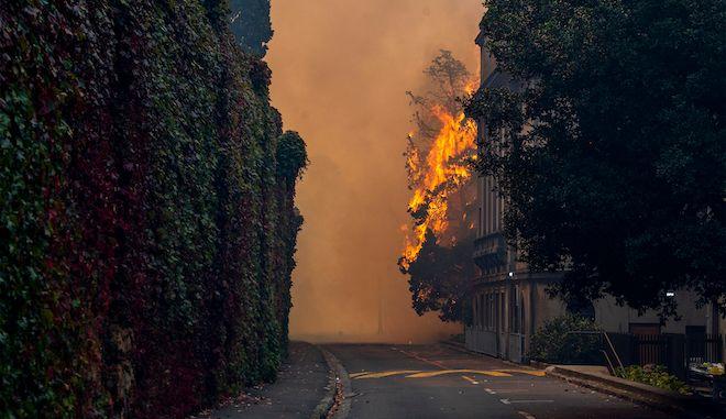 Πυρκαγιά στο Cape Town University, 18 Απριλίου 2021