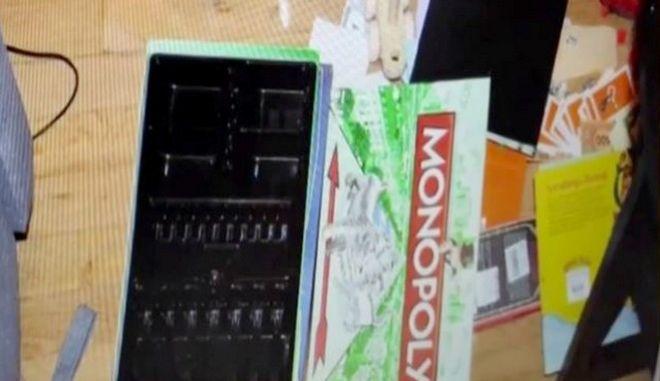 """Η """"Monopoly"""" που χρησιμοποίησε ο δράστης για να σκηνοθετήσει την υποτιθέμενη ληστεία"""
