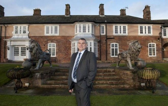 STEVE SMITH, MILLIONAIRE AND FORMER OWNER OF POUNDLAND, AT HIS HOME, HAMMER HILL HOUSE, FOR JAN MOIR INTERVIEW.