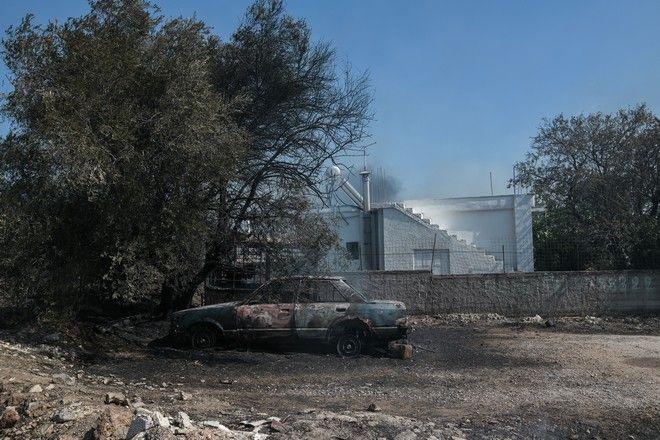 Πυρκαγιά στην Κερατέα