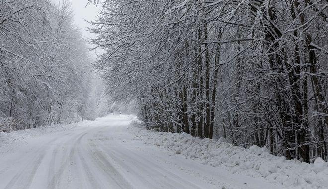 Χιόνια στα Τρία Πέντε Πηγάδια